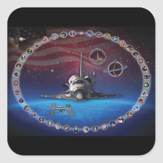 Discovery Tribute Square Sticker