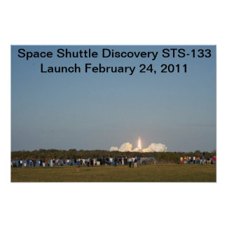 Discovery's Launch STS-133 Poster