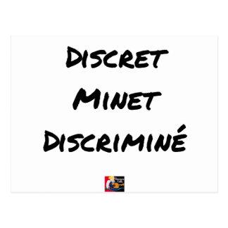 DISCRETE DISCRIMINATED PUSSY - Word games Postcard