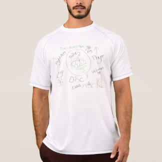 DiscTribe Secret Plan Doodle Disc Golf Jersey T-Shirt