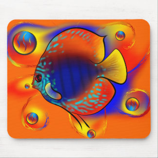 Discuremia V1 - abstract digital artwork Mouse Pad