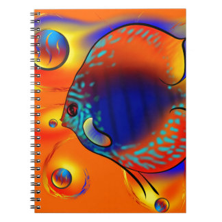 Discuremia V1 - abstract digital artwork Spiral Notebook