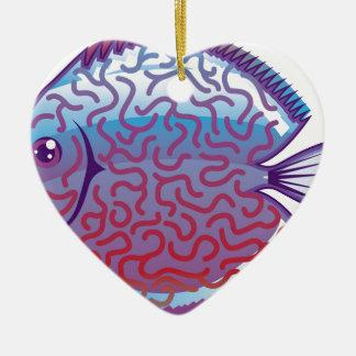 Discus Aquarium fish Ceramic Ornament