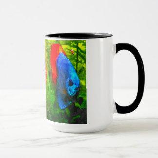 Discus aquarium fish mug