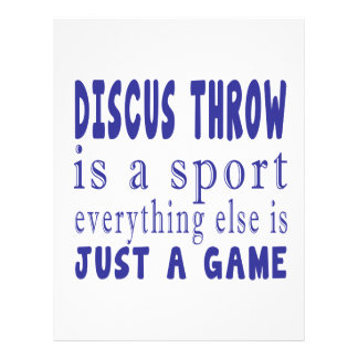 DISCUS THROW JUST A GAME PERSONALIZED LETTERHEAD