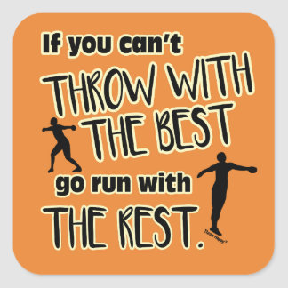 Discus Throw With The Best- Stickers