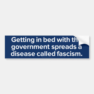 Disease Called Fascism Stickers Bumper Sticker