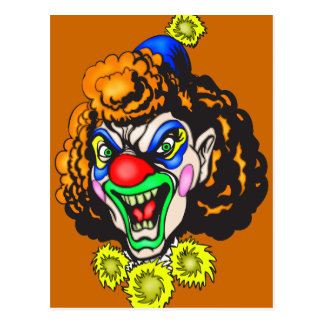 Disgusting Evil Clown Postcard