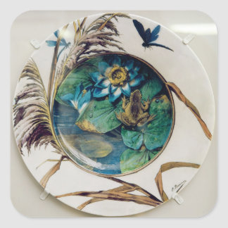 Dish, c.1870-80 square sticker