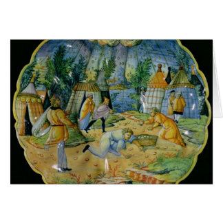 Dish depicting the gathering of manna card
