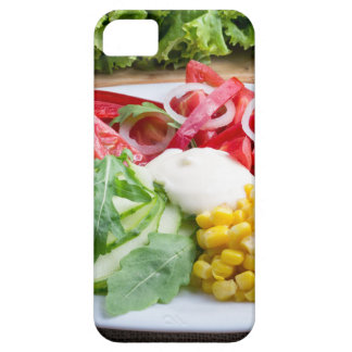 Dish from tomatoes, bell-pepper, mozzarella cheese case for the iPhone 5