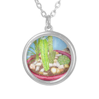 Dish Garden Silver Plated Necklace
