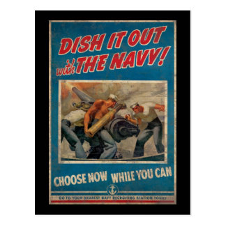 Dish It Out With The Navy Postcard