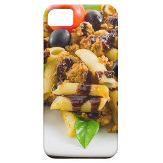 Dish of Italian pasta rigatoni with bolognese iPhone 5 Case