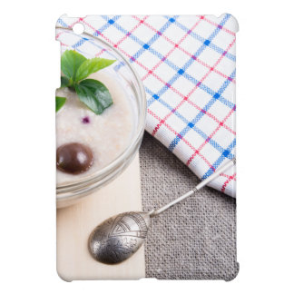 Dish of oatmeal in a bowl of glass iPad mini cases