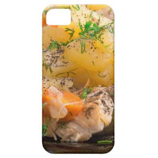 Dish of stewed potatoes with chicken and spices iPhone 5 covers