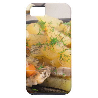 Dish of stewed potatoes with meat and spices iPhone 5 cases