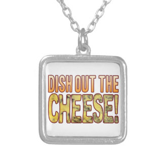 Dish Out Blue Cheese Silver Plated Necklace