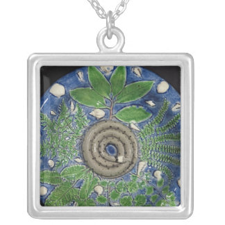 Dish, Palissy Ware Silver Plated Necklace