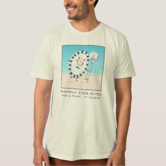 Dish Runs Away with the Spoon Beach Wedding Couple T-shirt