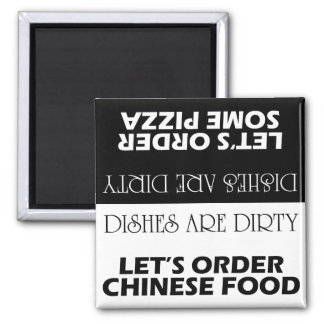 Dishes Are Dirty Let's Order Delivery Double-Sided Magnet