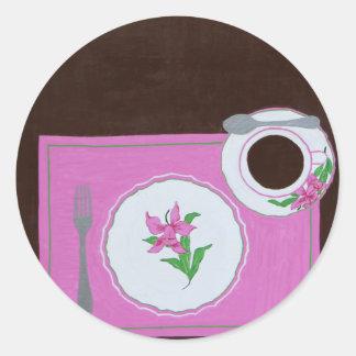 """""""Dishes from Dallmayr"""" Round Sticker"""