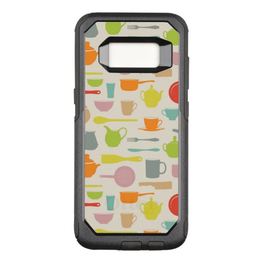Dishes Pattern OtterBox Commuter Samsung Galaxy S8 Case