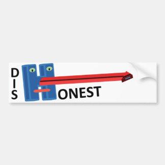 Dishonest Hillary Clinton Pinocchio Bumper Sticker