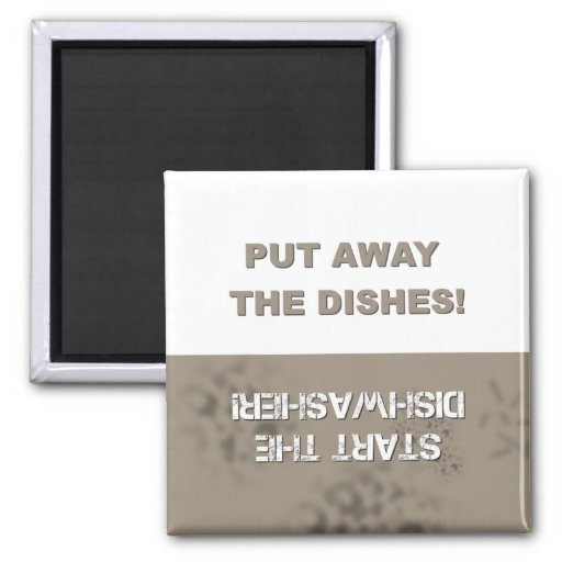 Dishwasher Clean/Dirty Square Magnet