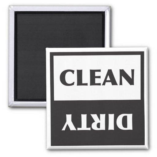 Dishwasher Clean or Dirty Sign Fridge Magnet