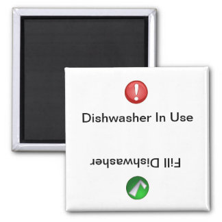 Dishwasher in Use/Fill Dishwasher Magnet