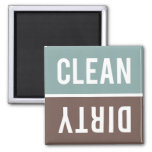 Dishwasher Magnet CLEAN | DIRTY - Blue Grey Brown