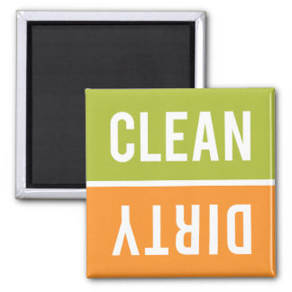 Dishwasher Magnet CLEAN | DIRTY - Green & Orange