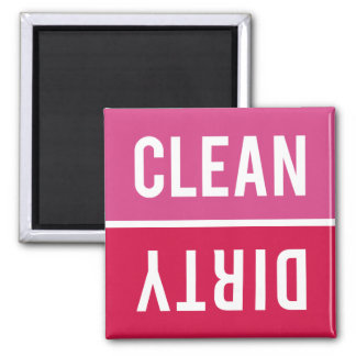 Dishwasher Magnet CLEAN | DIRTY - Pink Red