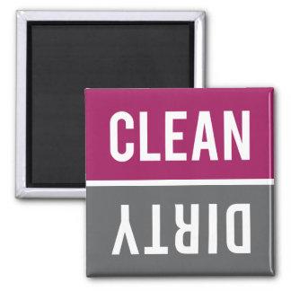 Dishwasher Magnet CLEAN | DIRTY - Raspberry Grey