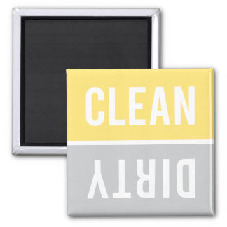 Dishwasher Magnet CLEAN | DIRTY - Yellow Grey