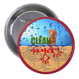 Dishwasher magnet: dirty/clean 3 inch round button