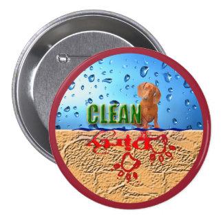 Dishwasher magnet: dirty/clean 3 inch round button