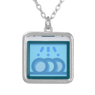 Dishwasher Silver Plated Necklace