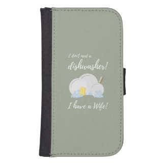 Dishwasher Women Funny Samsung S4 Wallet Case