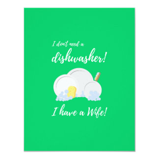 Dishwasher Women Funny Zv6ru Card