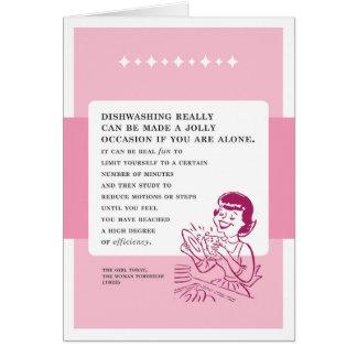 Dishwashing Can Be Fun Vintage Bad Advice Greeting Card
