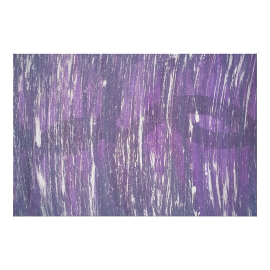 Disillusioned Abstract Original | Purple Silver | Poster