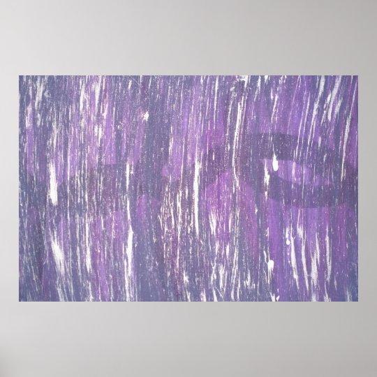 Disillusioned Art Original Purple Silver Splatter Poster