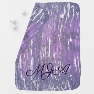 Disillusioned Baby | Monogram Purple Pink Silver | Baby Blanket