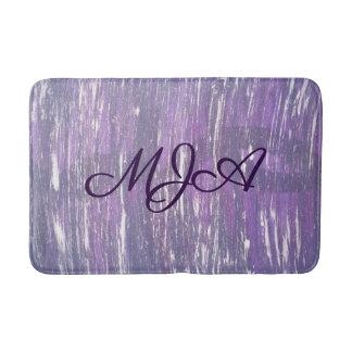 Disillusioned Bath | Monogram Plum Purple Silver | Bath Mat