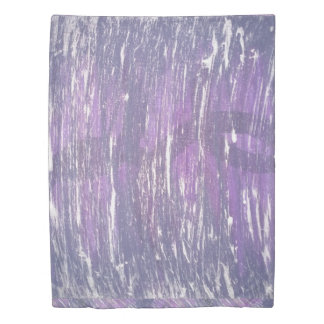 Disillusioned Bed | Violet Plum Purple Silver | Duvet Cover