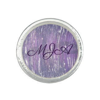 Disillusioned Bling | Monogram Purple Silver | Photo Rings
