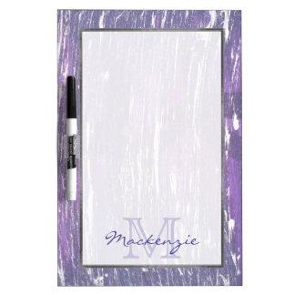 Disillusioned Kitchen | Monogram Purple Silver | Dry Erase Board