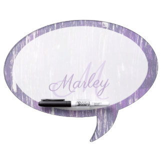 Disillusioned Kitchen | Monogram Purple Silver | Dry Erase Board